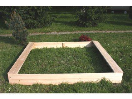 Dětské pískoviště dřevěné - obdélník 160x180x20 cm