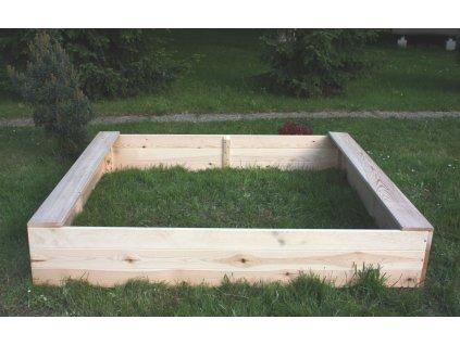Dětské pískoviště dřevěné - obdélník 160x180x29 cm