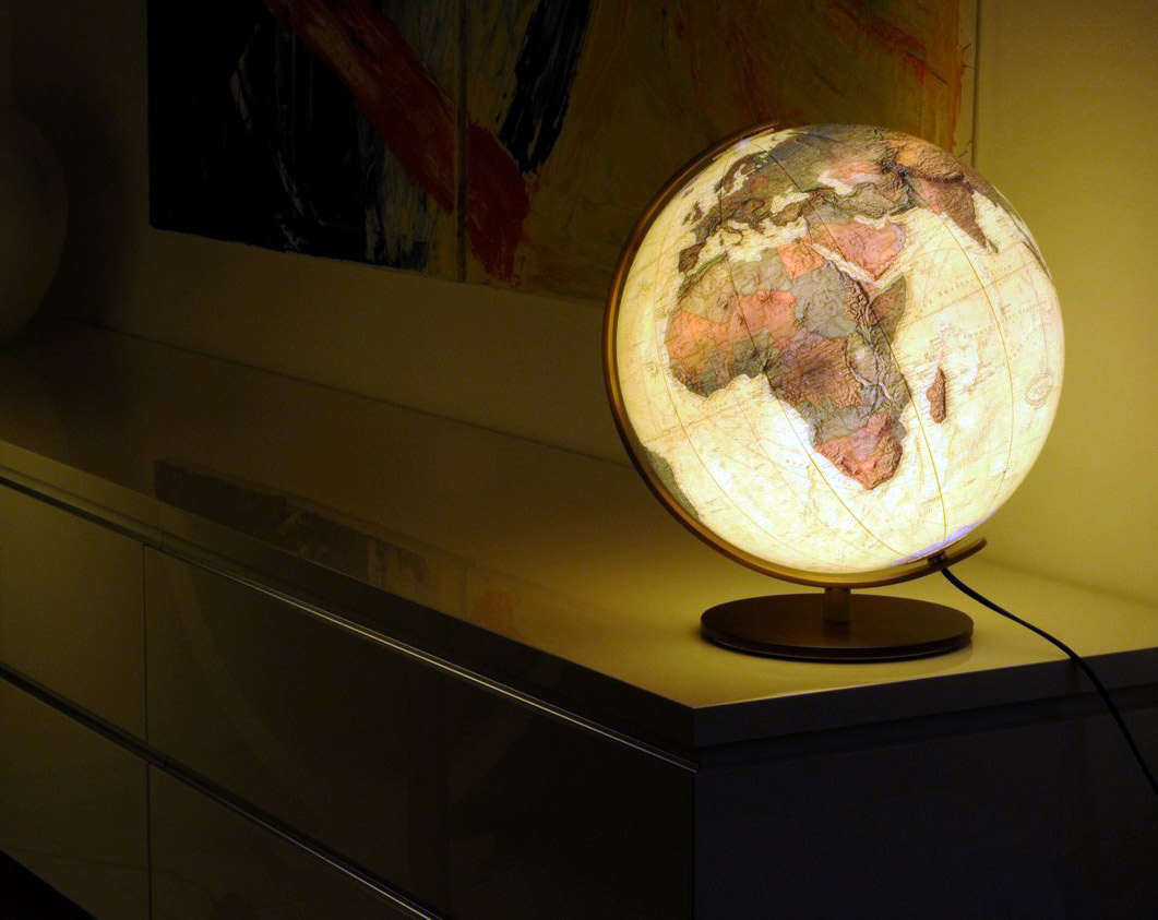 Dekorace globus do ložnice