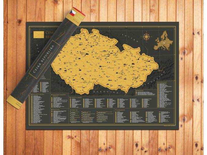 Nástěnná stírací mapa Česká republika