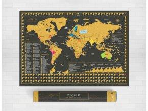 Nástěnná stírací mapa Svět