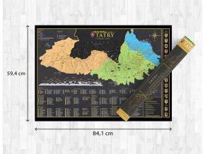Nástěnná mapa stírací Tatry