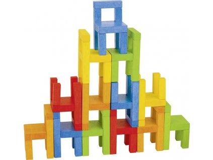 Dovednostní hra s židličkami, 24 dílků