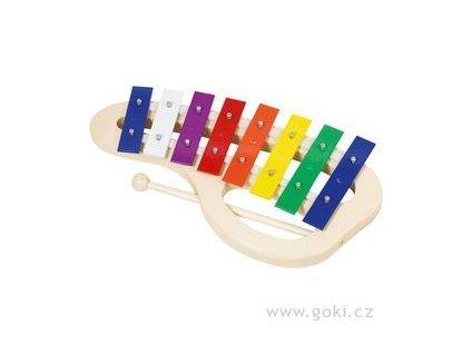 Xylofon barevný 8 tónů - 32 cm