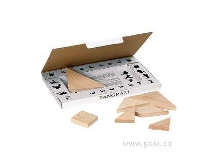 Hlavolam Tangram dřevěný