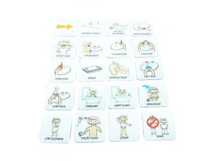 Hygiena dívka, set 20 ks piktogramů
