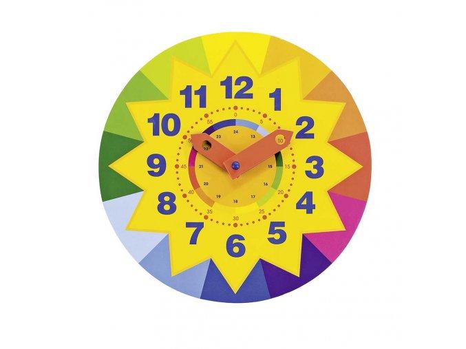 Dřevěné výukové hodiny Sluníčko