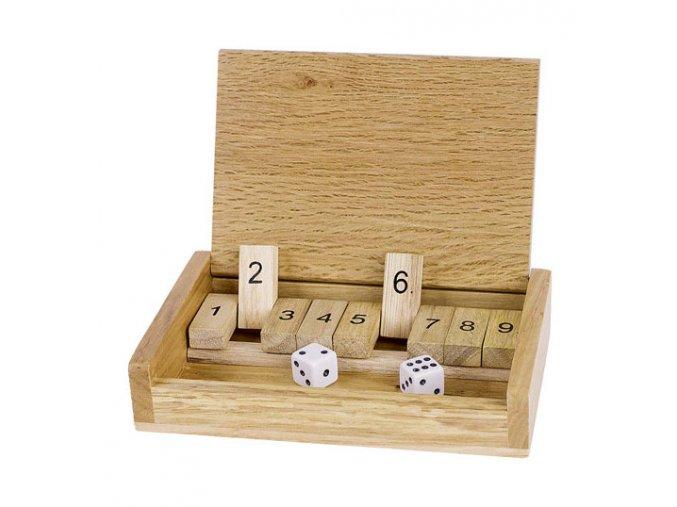 Cestovní hra Shut the box