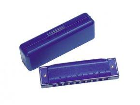 Foukací harmonika modrá 10 tónů