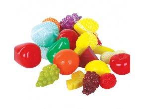 Plastové ovoce v síťce 22 ks