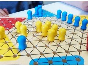 Stolní hra Halma ze dřeva