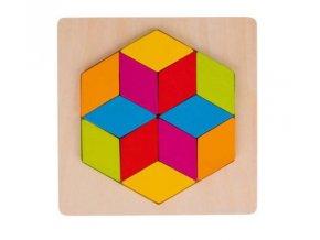 Puzzle Šestiúhelník, 12 dílků