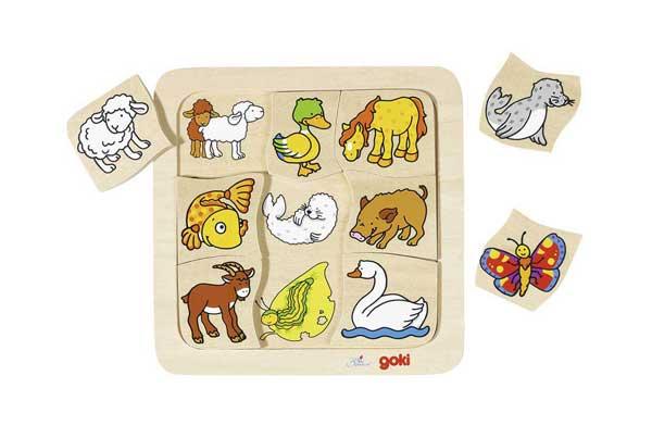 GOKI Výukové puzzle Kdo ke komu patří?