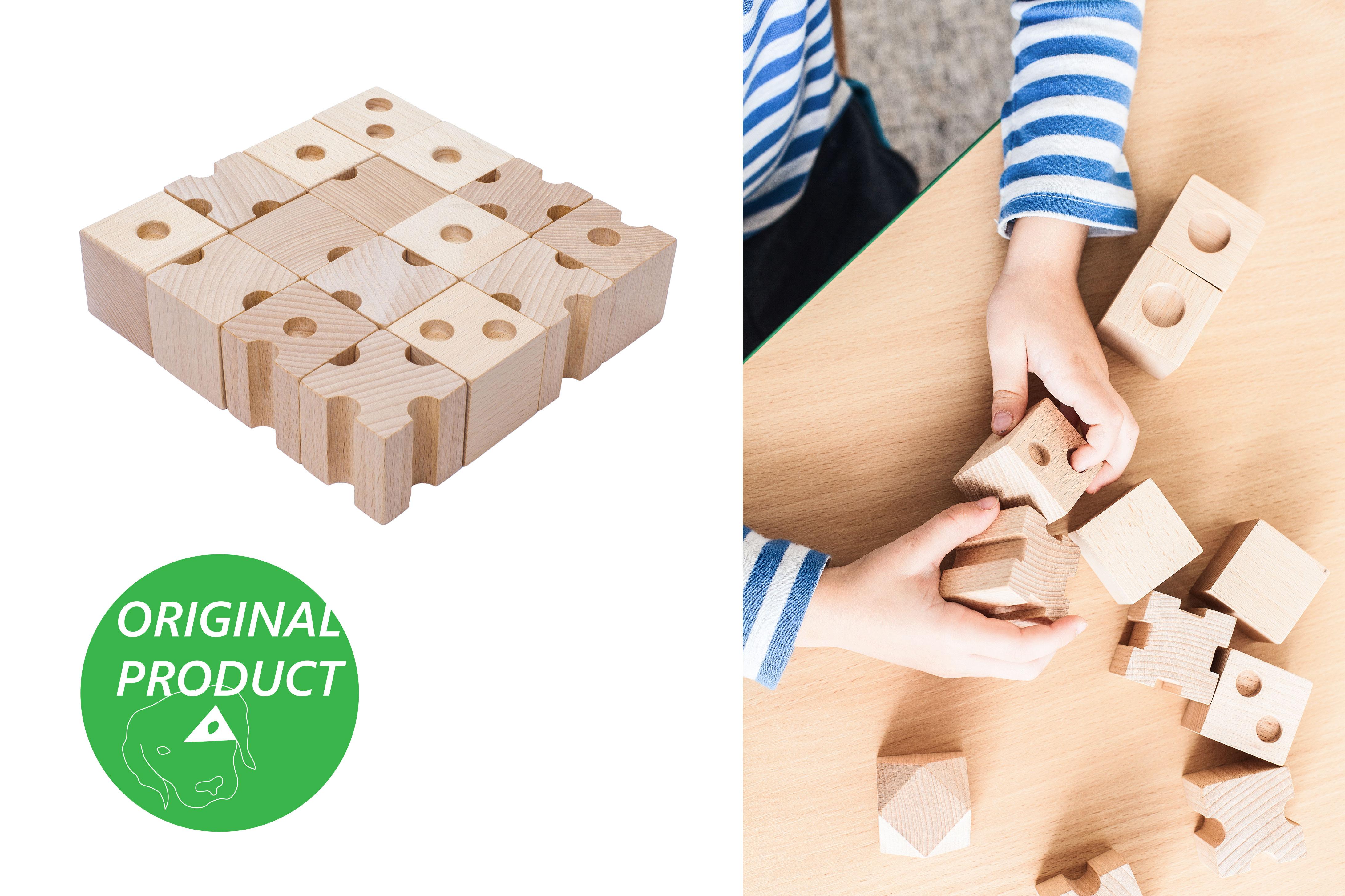 CODY DĚTSKÉ POMŮCKY Dřevěné hmatové kostky 2. stupeň obtížnosti