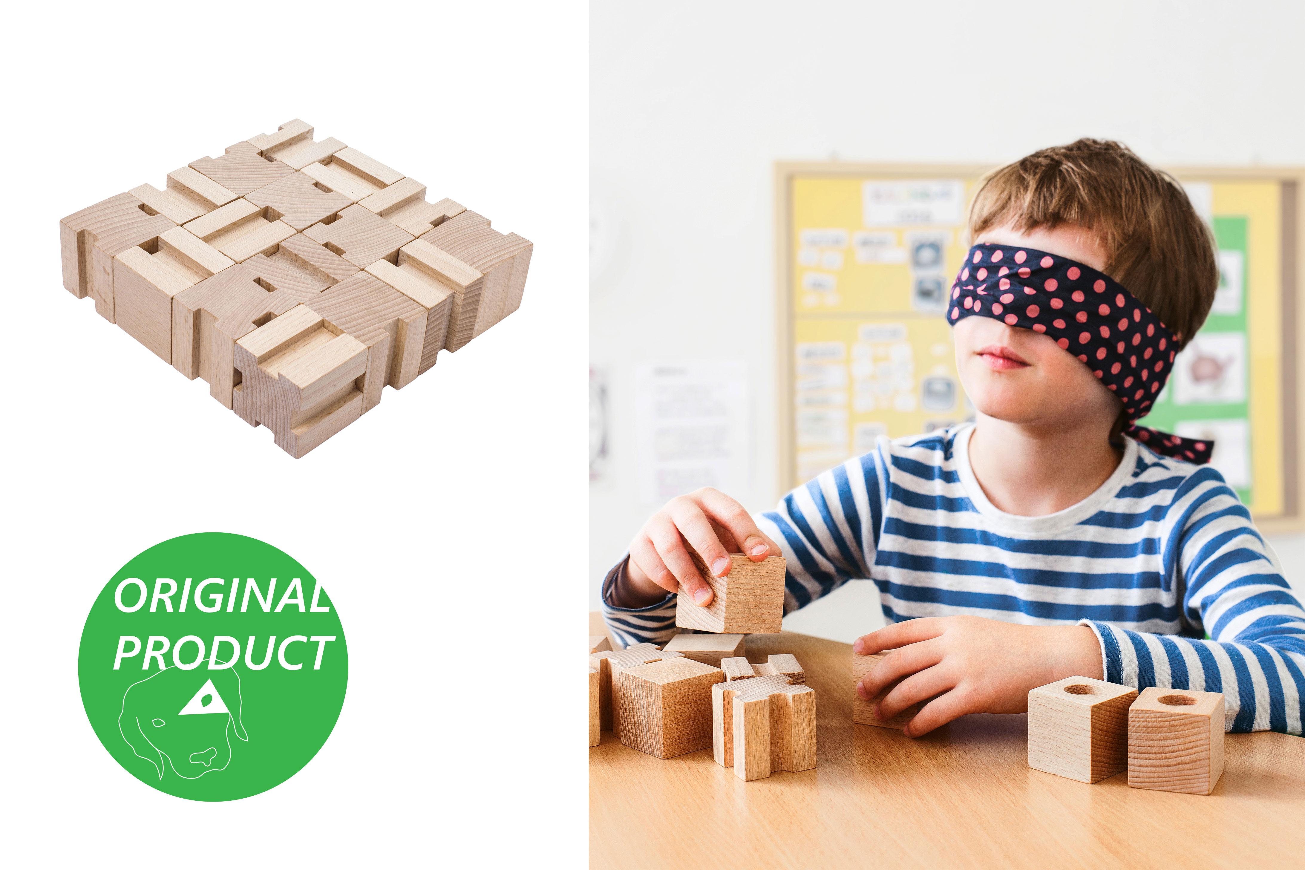 CODY DĚTSKÉ POMŮCKY Dřevěné hmatové kostky 3. stupeň obtížnosti