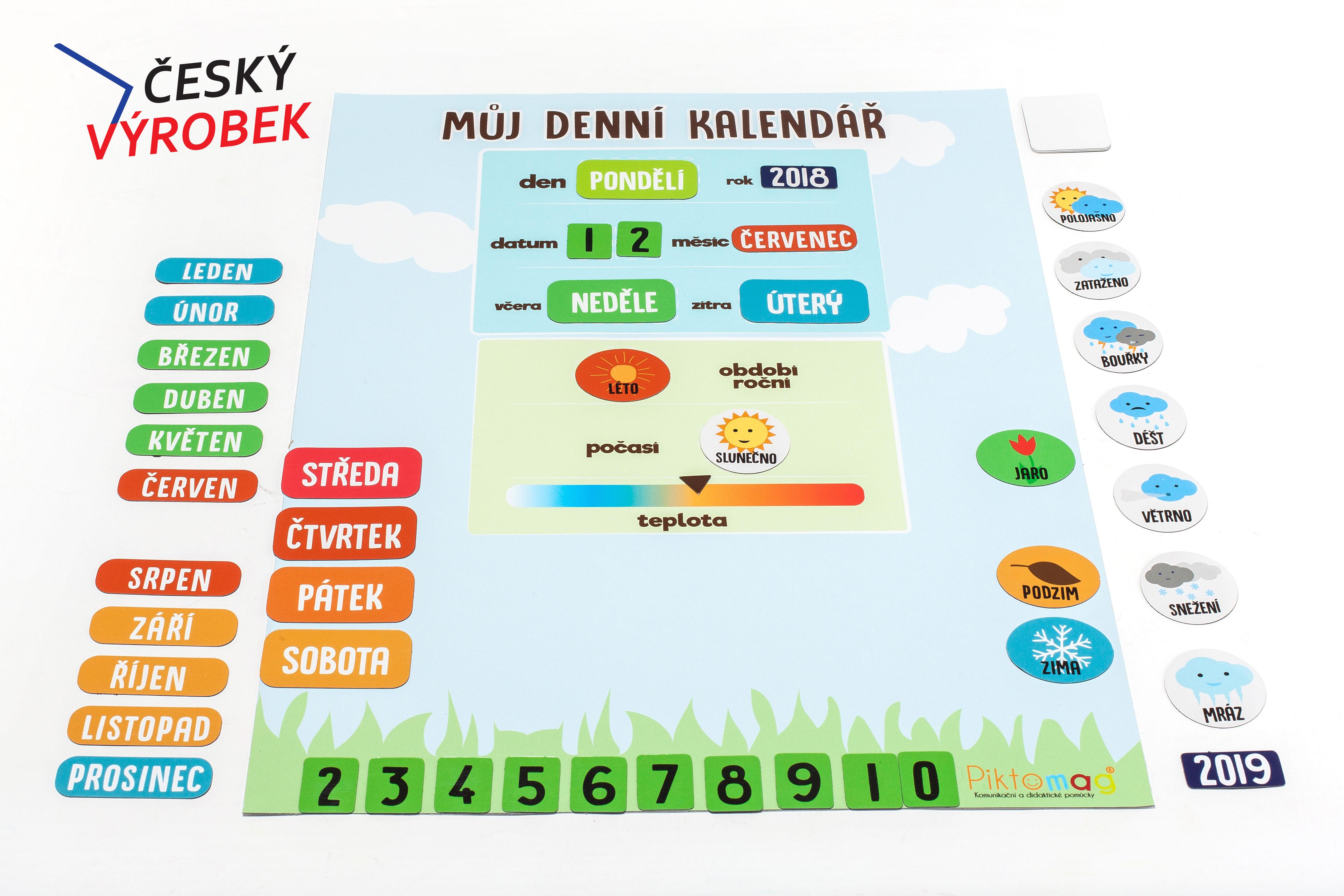 Piktomag Denní kalendář s počasím