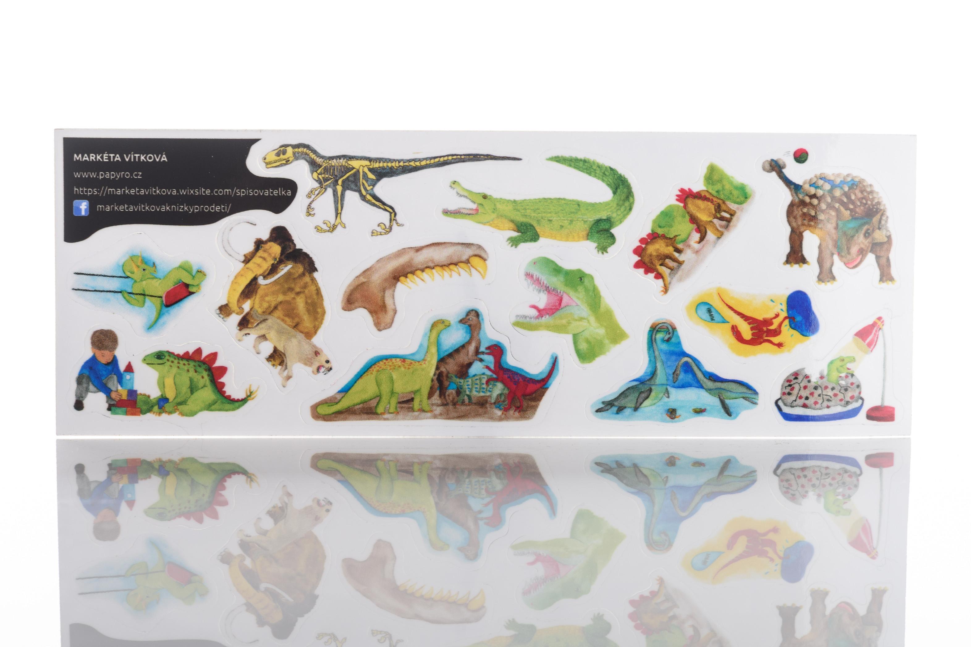 Dinosauří samolepky