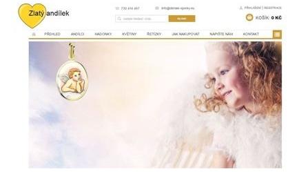 Zlatý andílek - dárky k narození dítěte a ke křtu