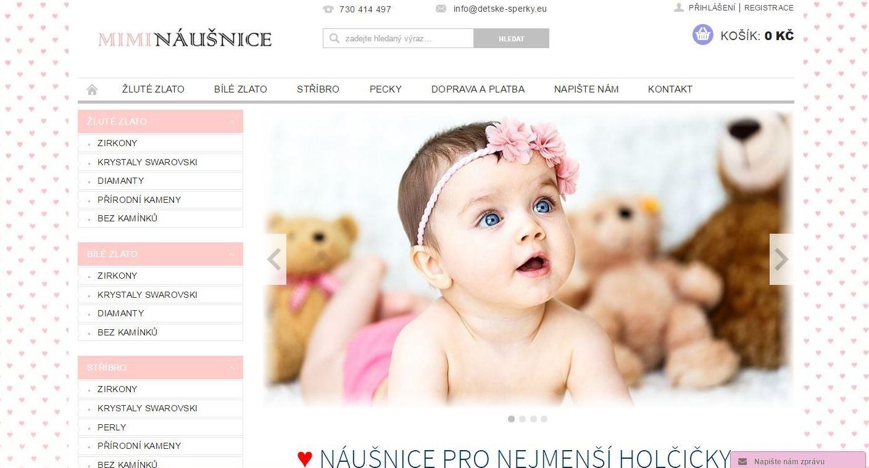 Mimináušnice - první dětské náušnice