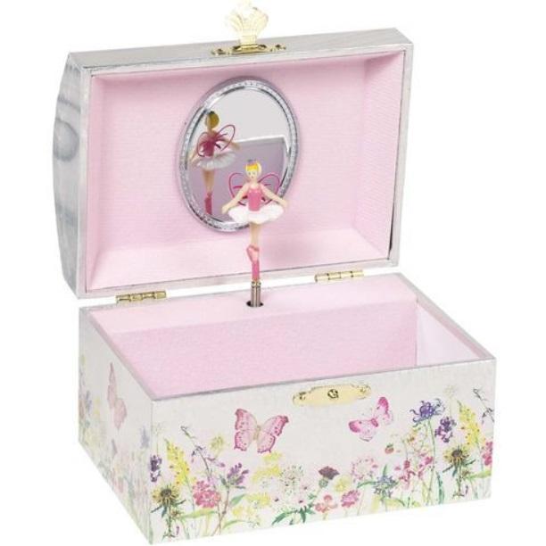 Dětská šperkovnice a hrací skříňka s tančící vílou + DÁREK Varianta: Šperkovnice + náušnice