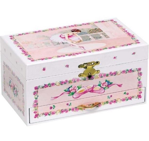 Dětská šperkovnice a hrací skříňka s tančící baletkou + DÁREK Varianta: Šperkovnice + náušnice