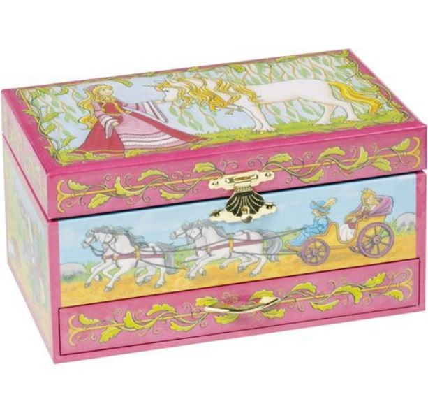 Dětská šperkovnice a hrací skříňka s tančícím pohádkovým koníkem
