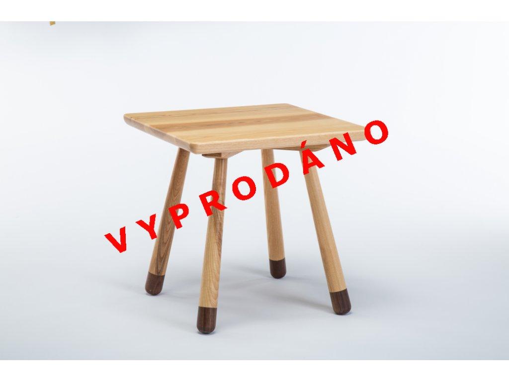 detsky stolek dreveny hranaty