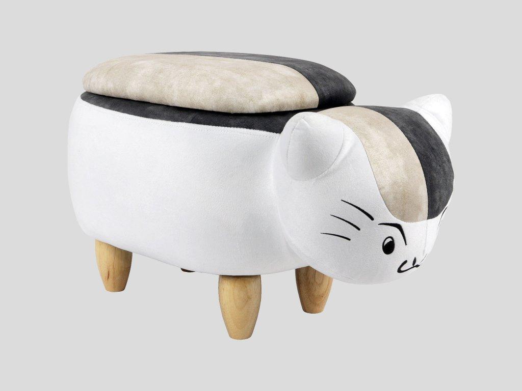 Dětský taburet - kočička