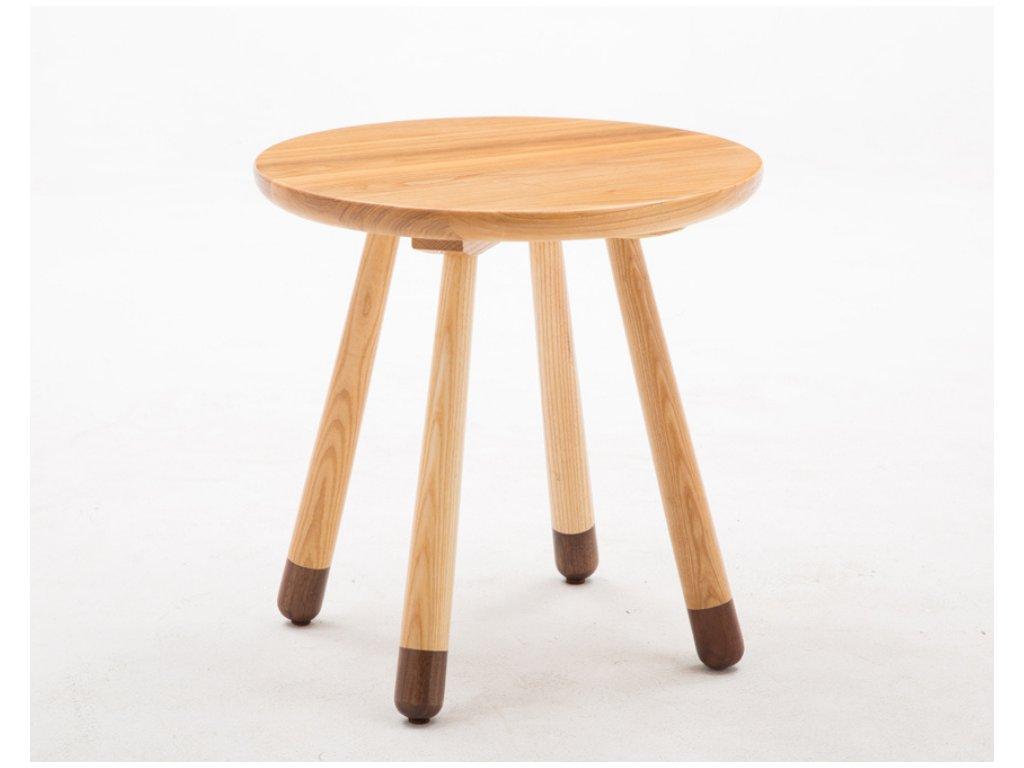 detsky stolek dreveny kulaty