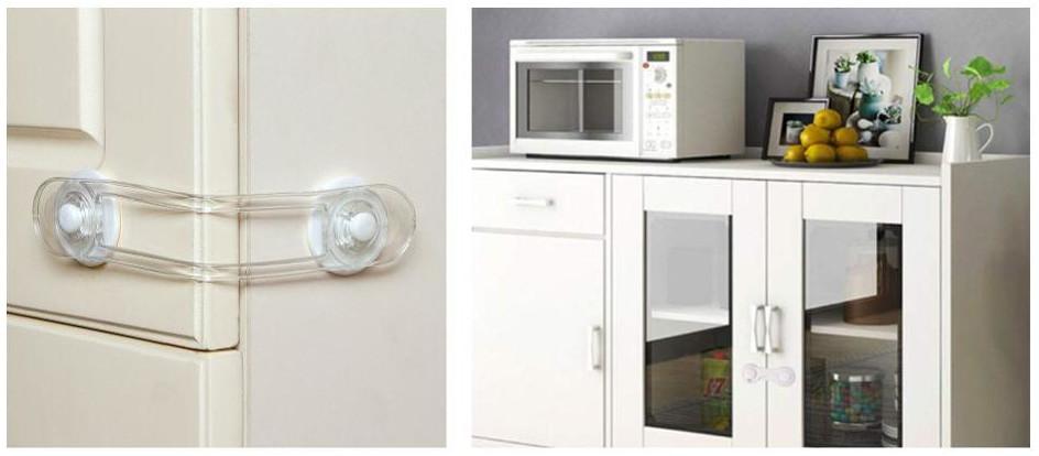 Bezpečnostní zámek na šuplíky a skříňky slouží k zabránění otevření šuplíků a skříněk