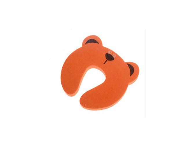 Zarážka na dveře oranzovy medvidek