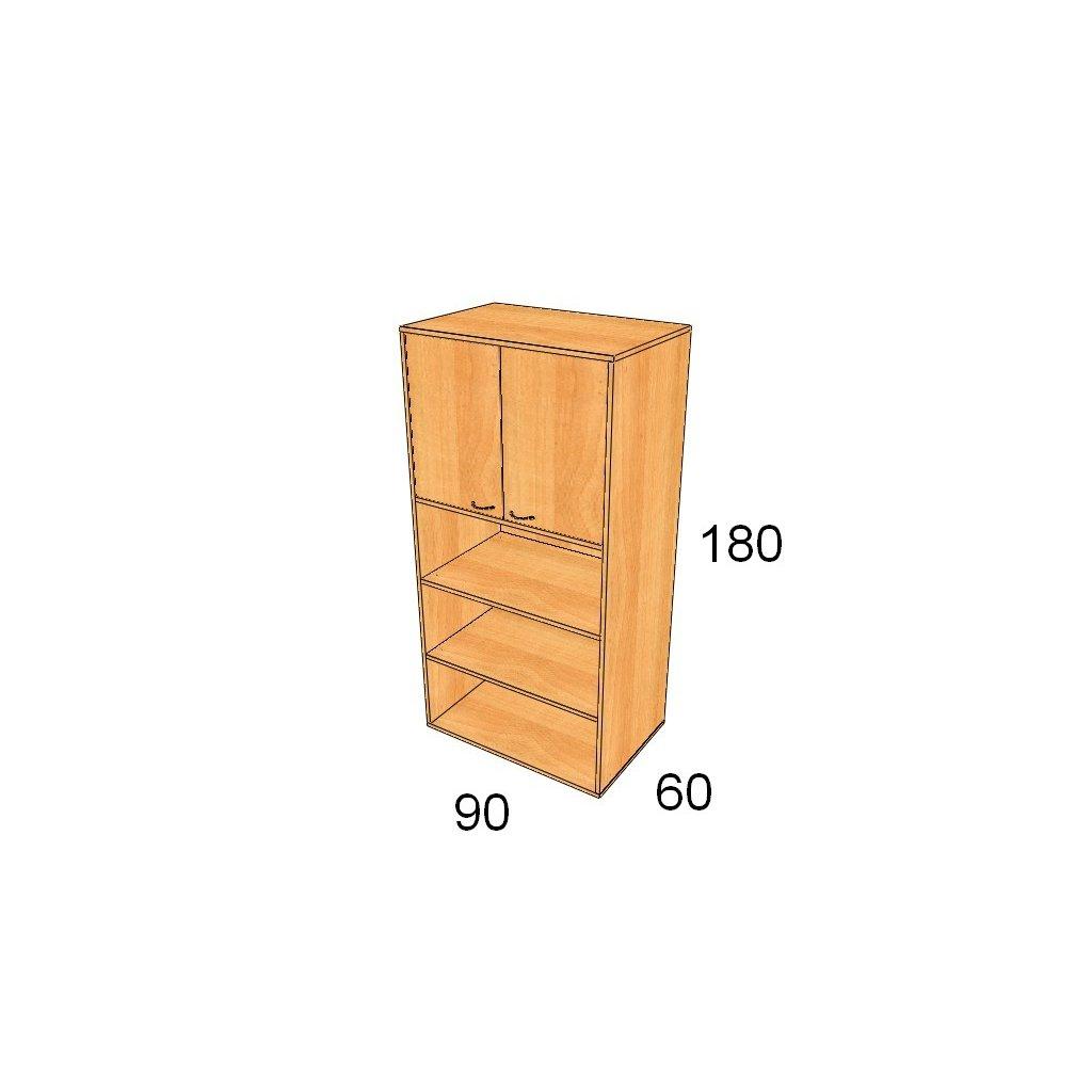 Hluboká dveřová skříň, Art. 2560
