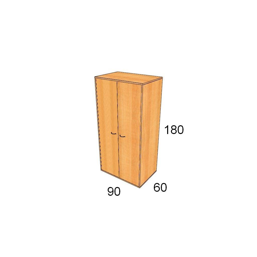 Hluboká dveřová skříň, Art. 2551