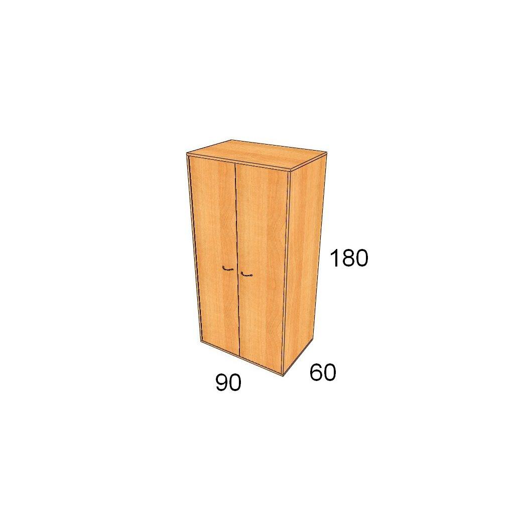 Hluboká dveřová skříň, Art. 2565