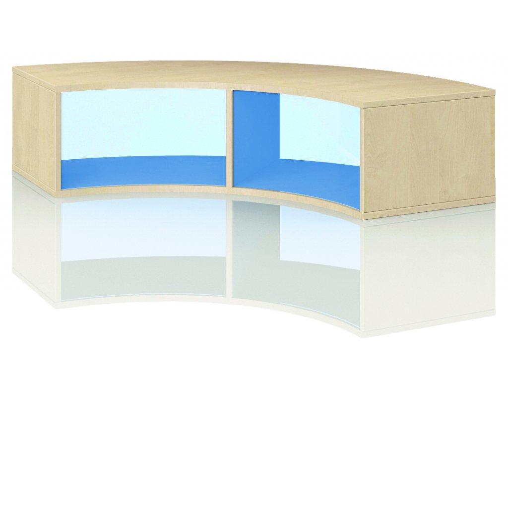 Čtvrtkruhová skříň, Art. 4102