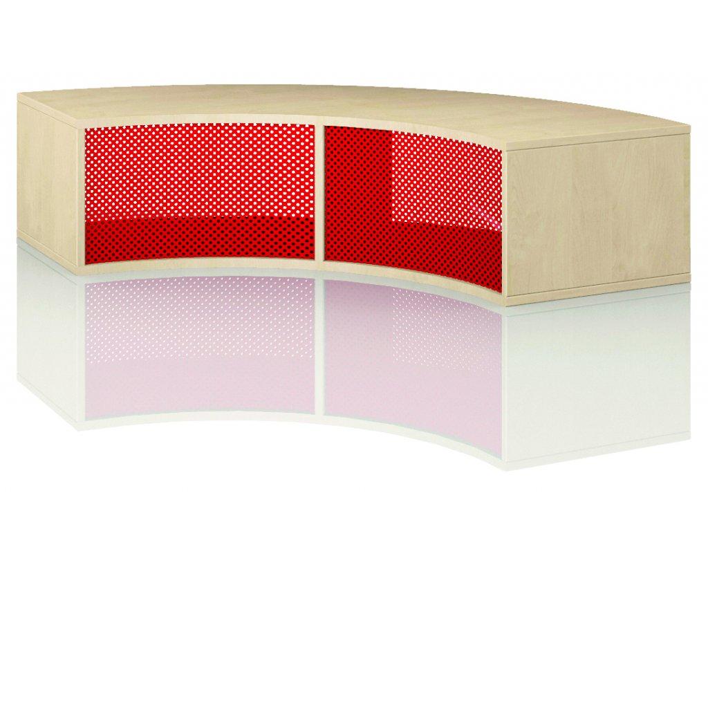 Čtvrtkruhová skříň, Art. 4104