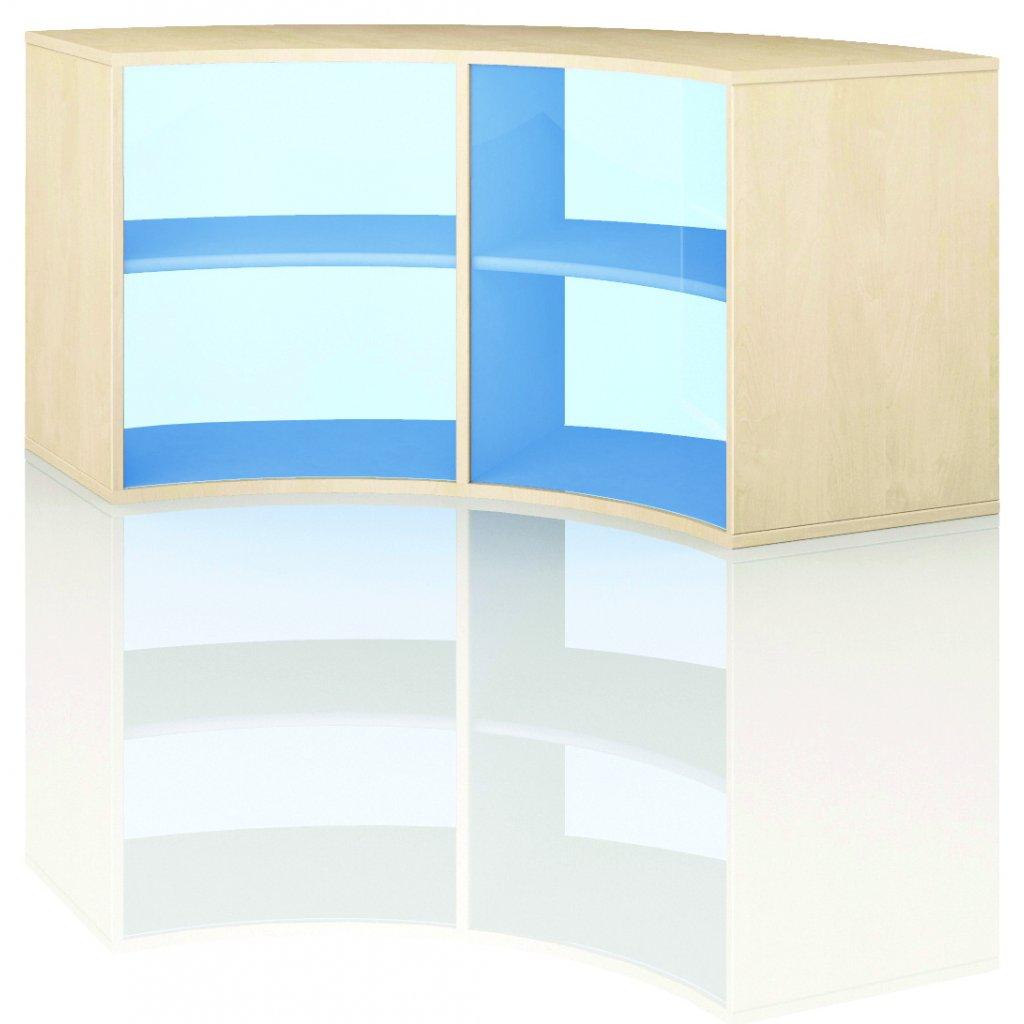 Čtvrtkruhová skříň, Art. 4202