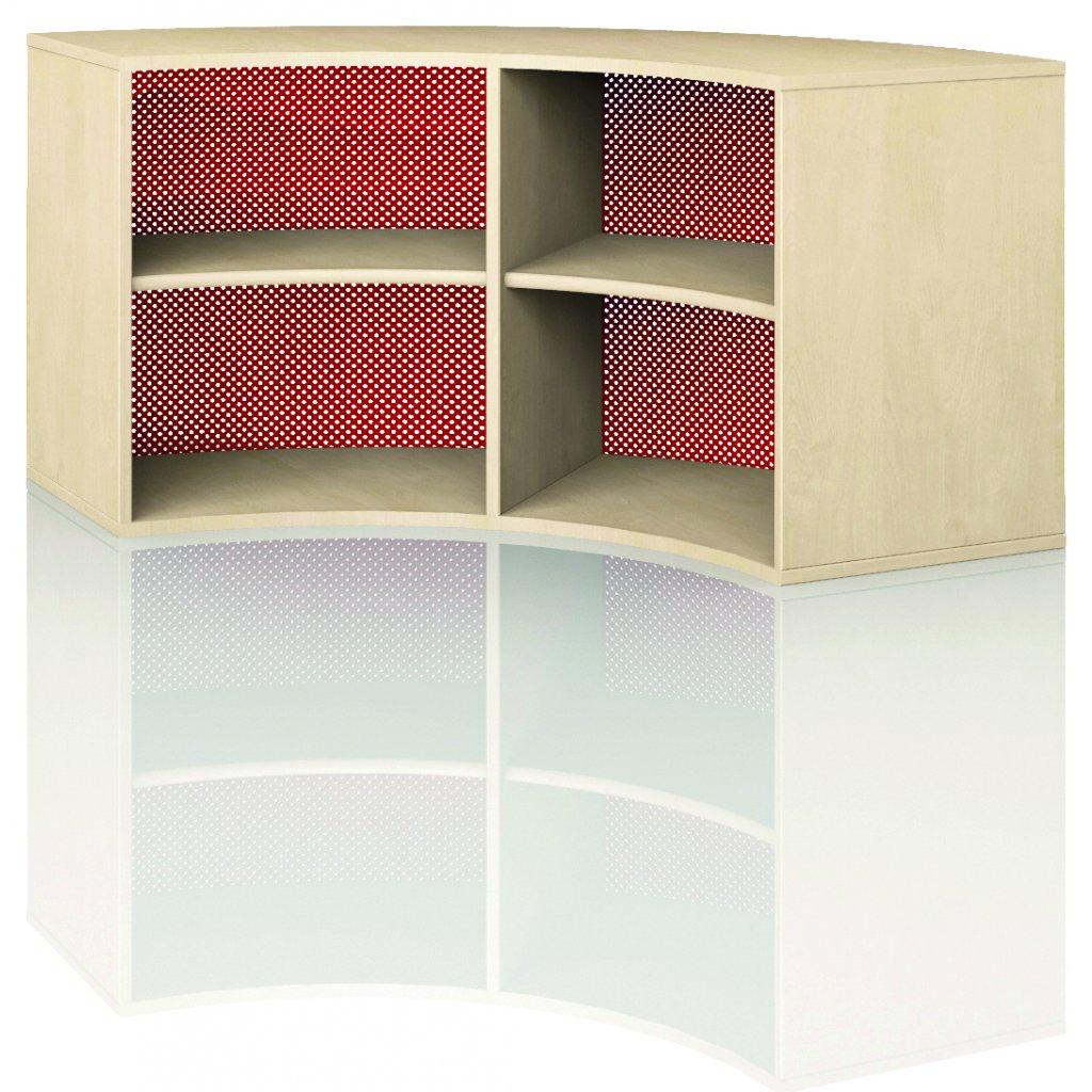 Čtvrtkruhová skříň, Art. 4203