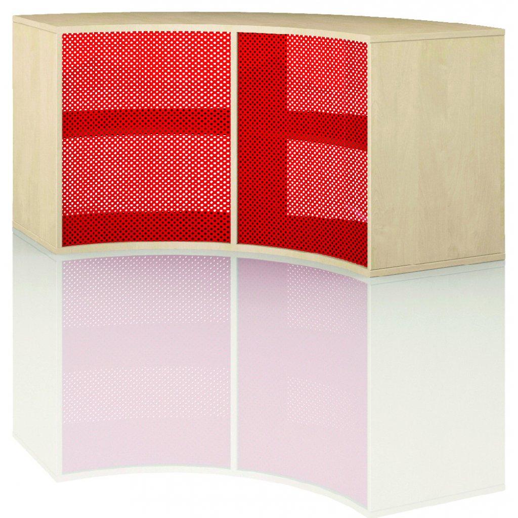Čtvrtkruhová skříň, Art. 4204