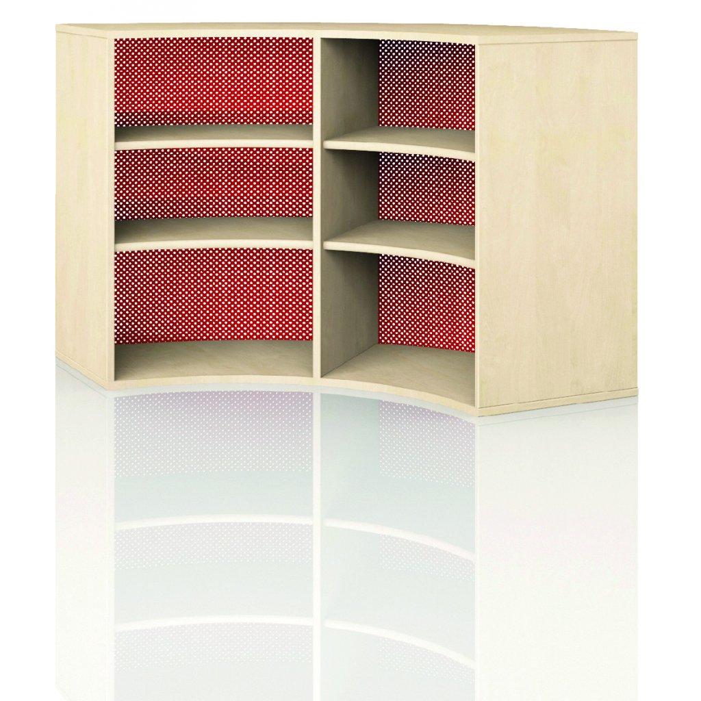 Čtvrtkruhová skříň, Art. 4303