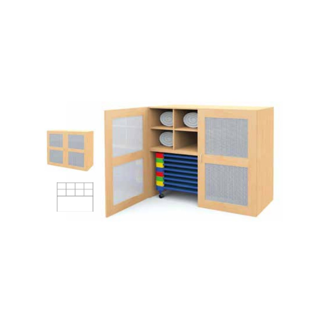 Kombinovaná skříň na ložní prádlo, Art.28503/2