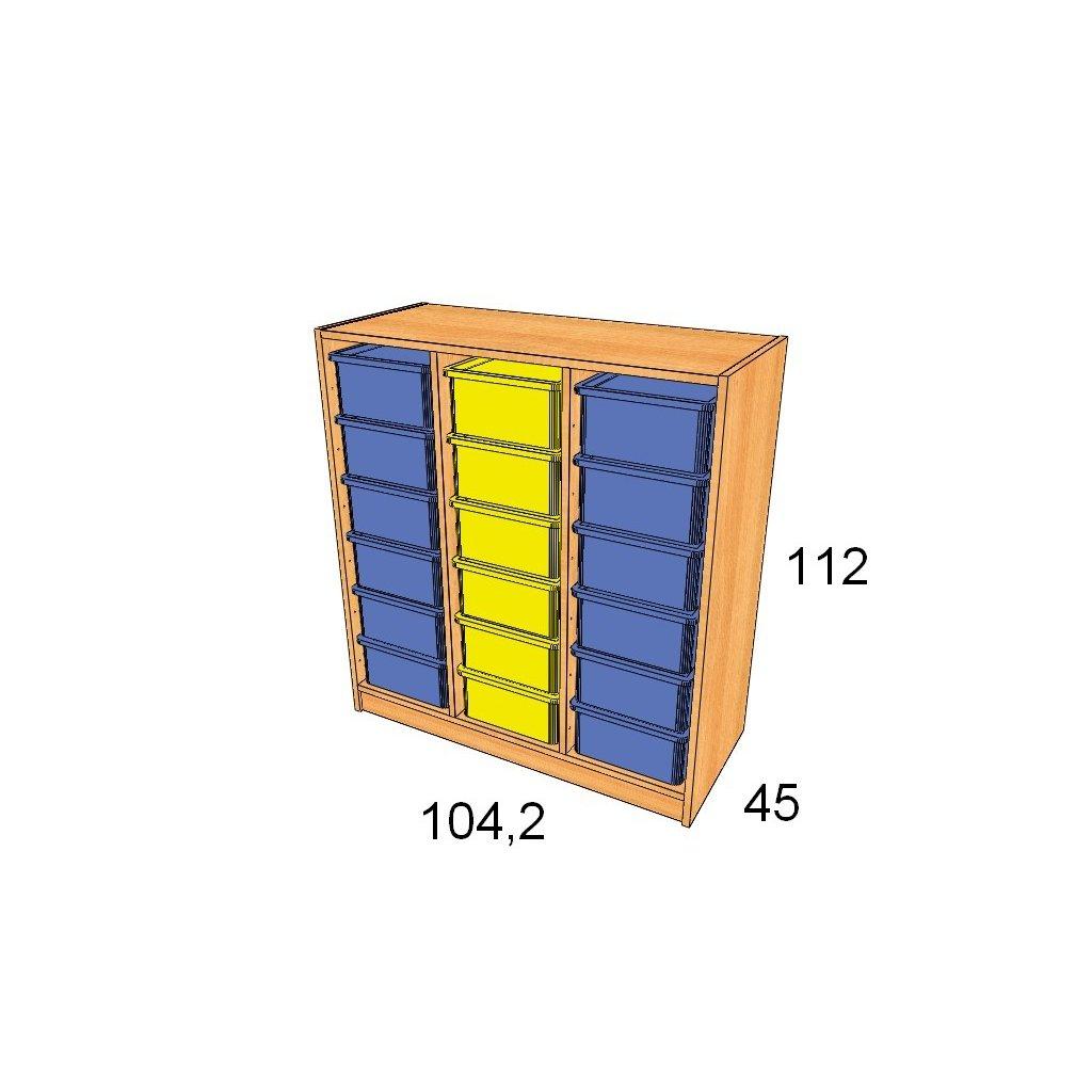 Skříň s plastovými boxy, Art. 27503/13