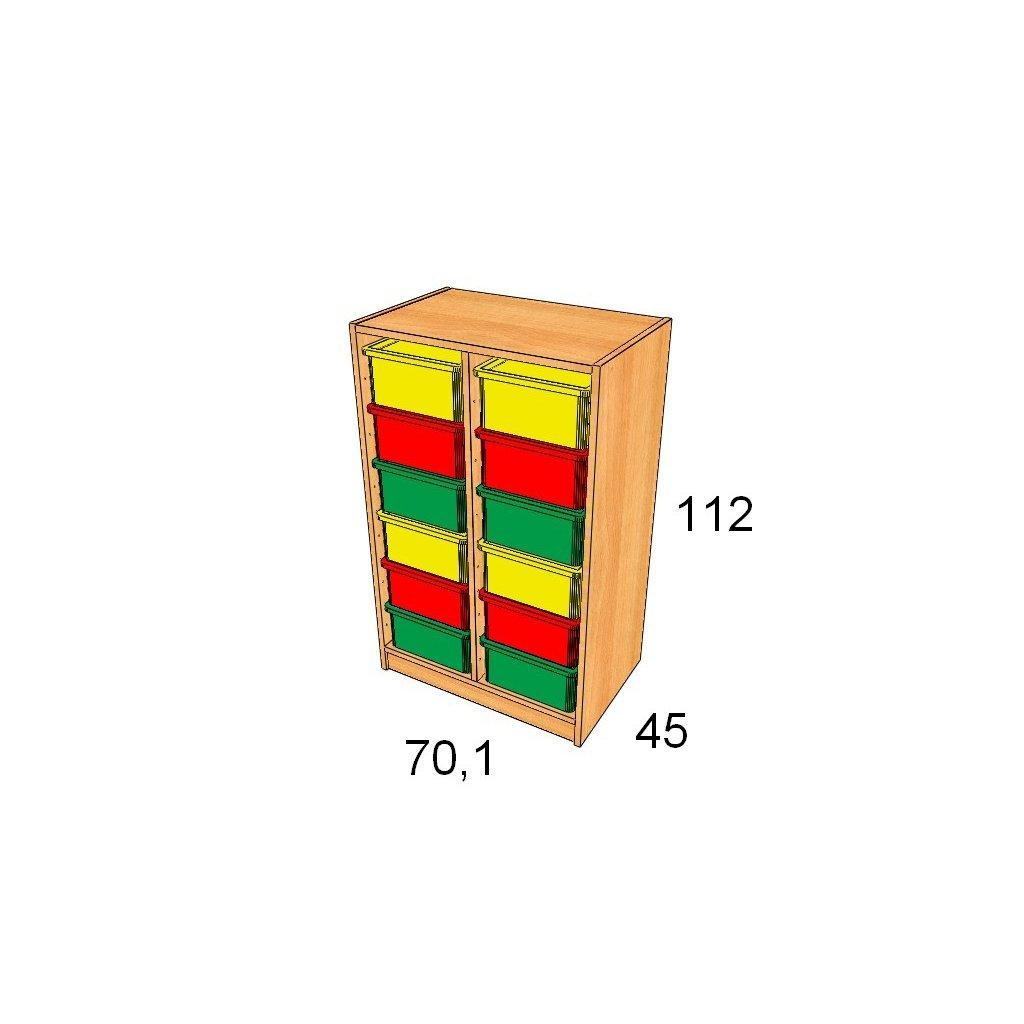 Skříň s plastovými boxy, Art. 27504/5