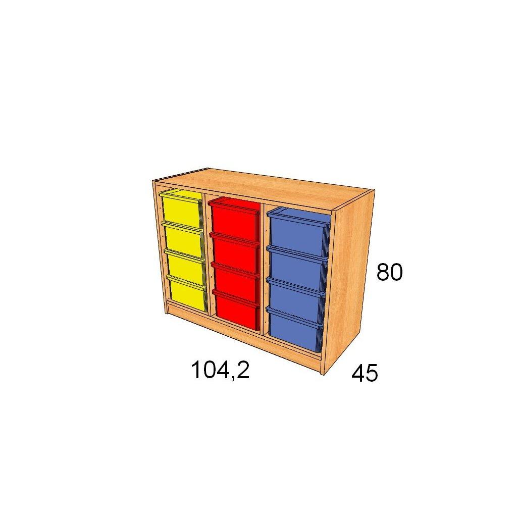 Skříň s plastovými boxy, Art. 27531