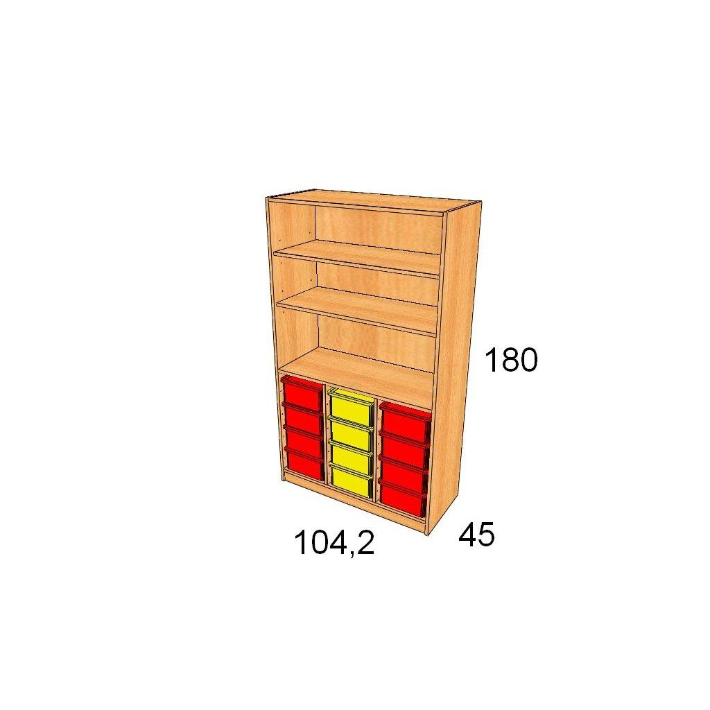 Skříň s plastovými boxy, Art. 27540