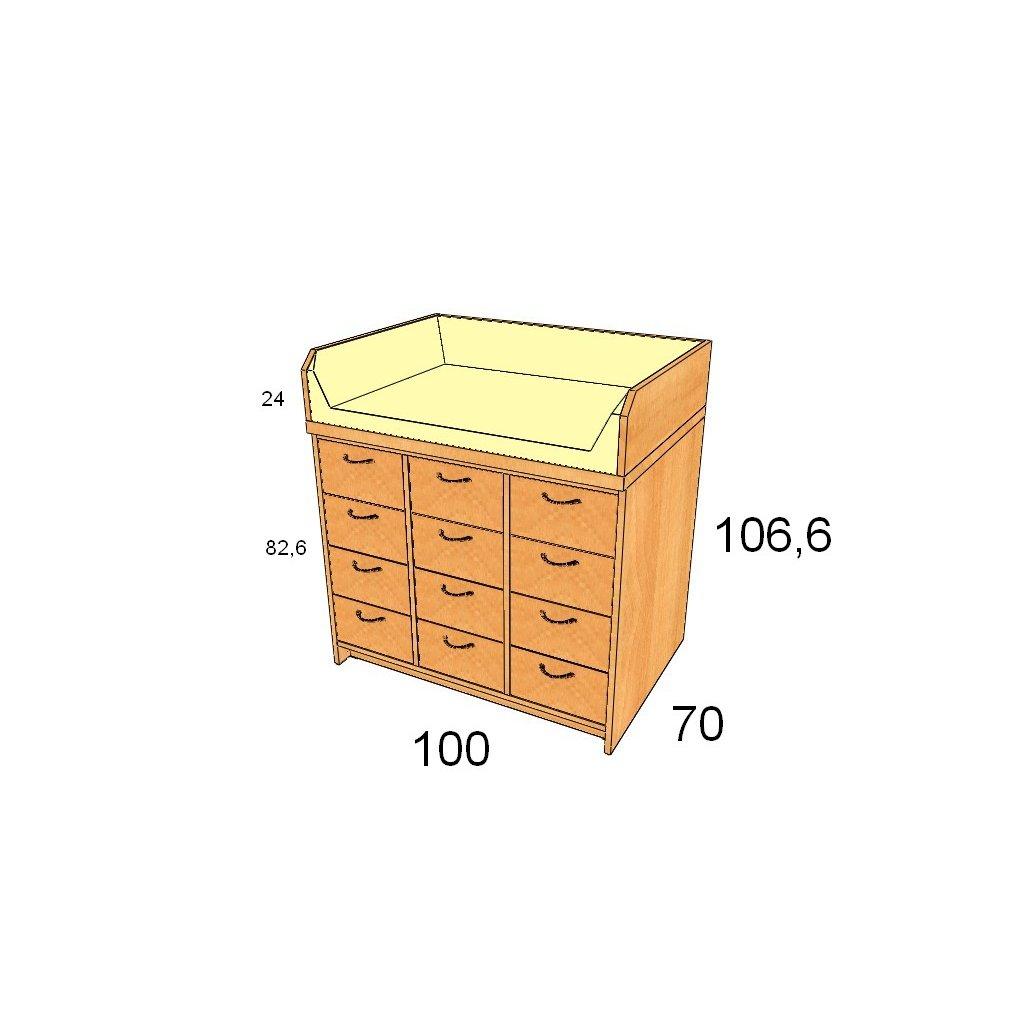 Přebalovací pult, Art. 25013