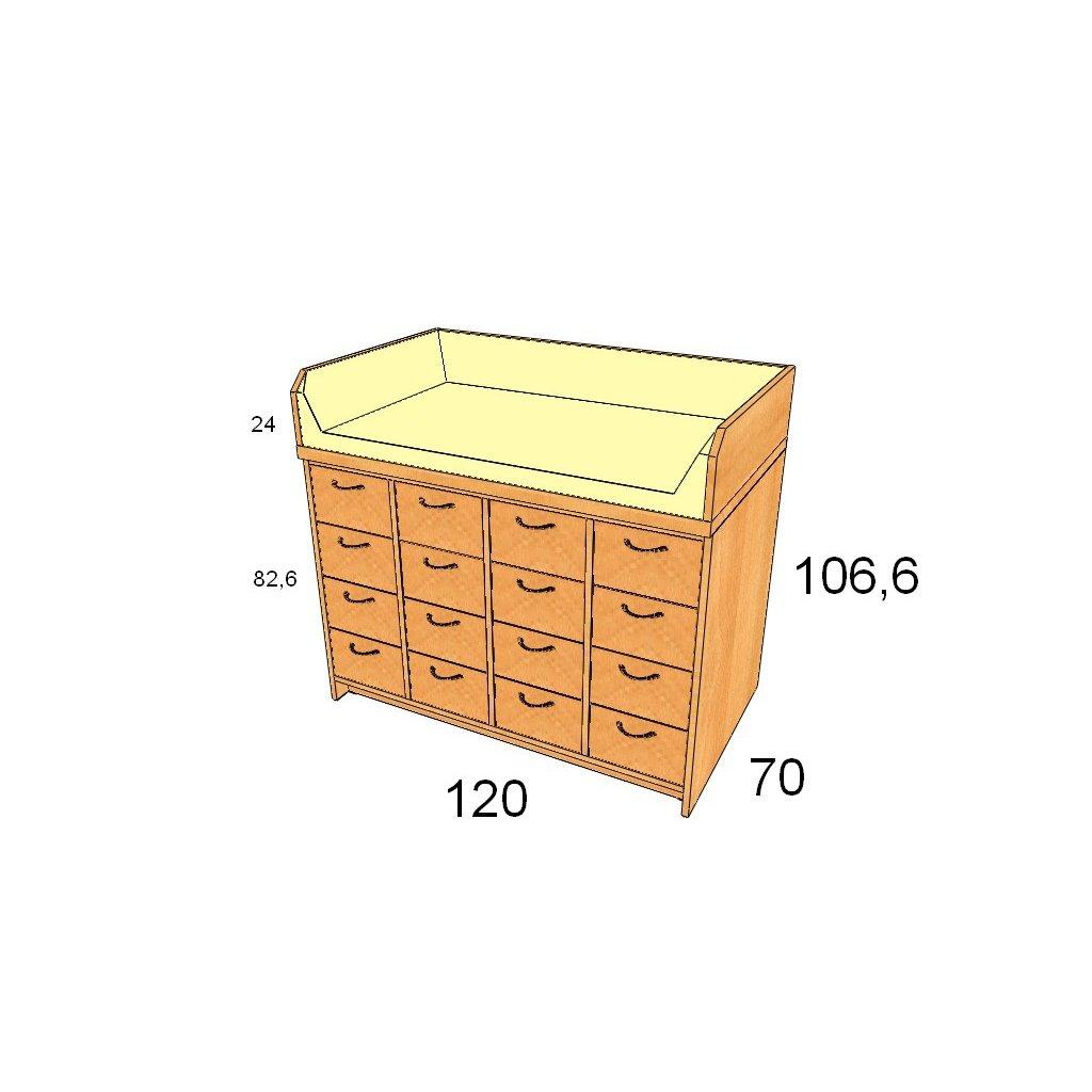 Přebalovací pult, Art. 25013/1