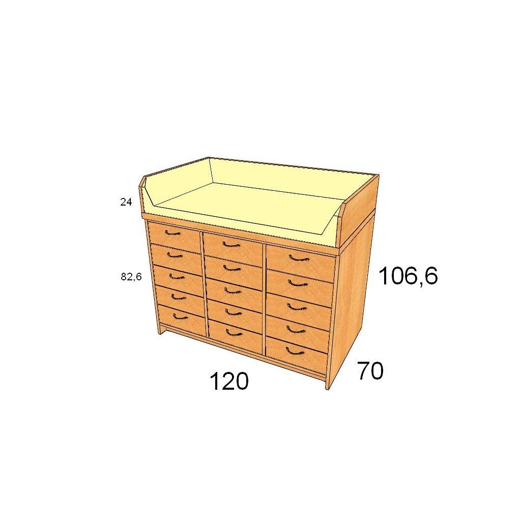 Přebalovací pult, Art. 25150/2
