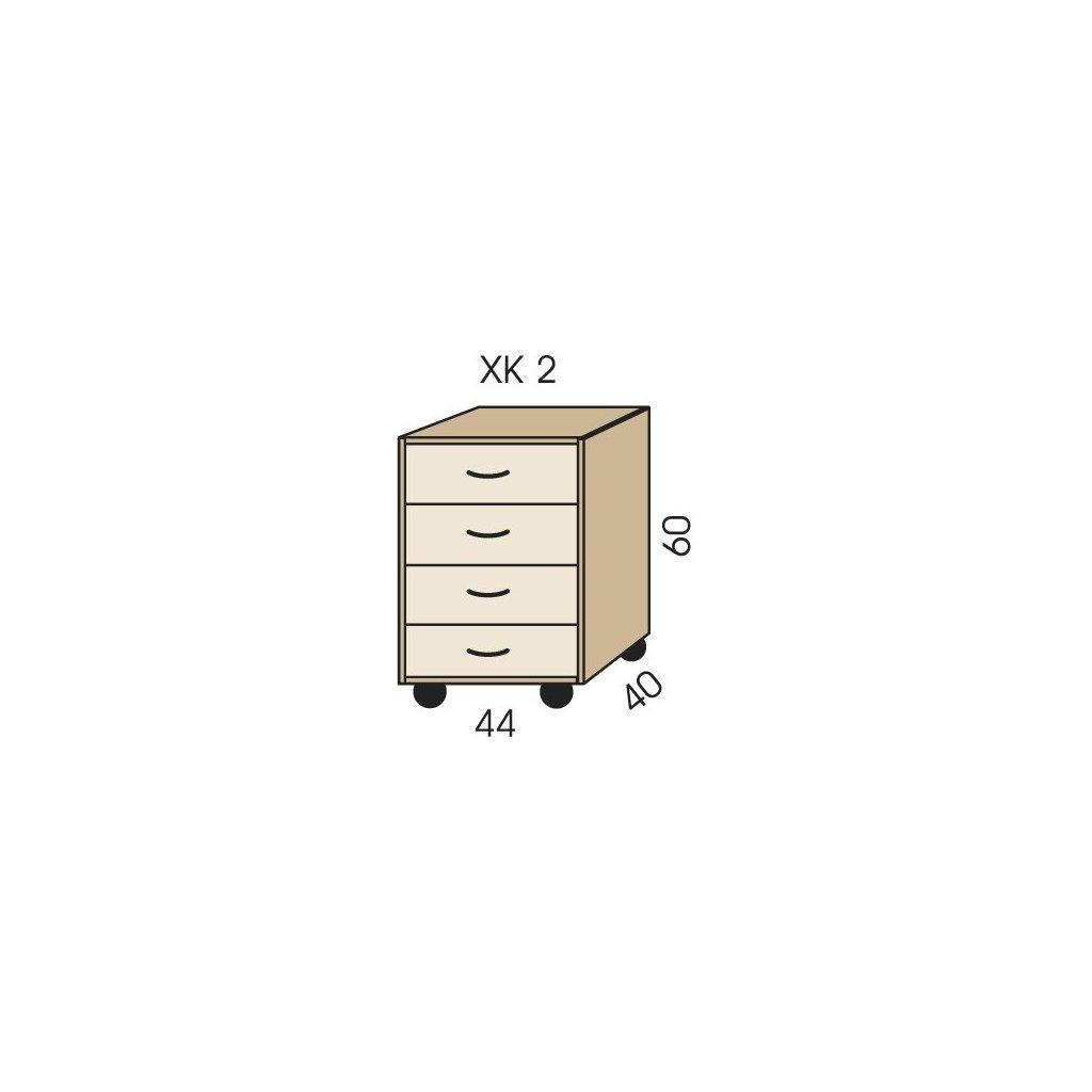 kontejner pod stul xk 2