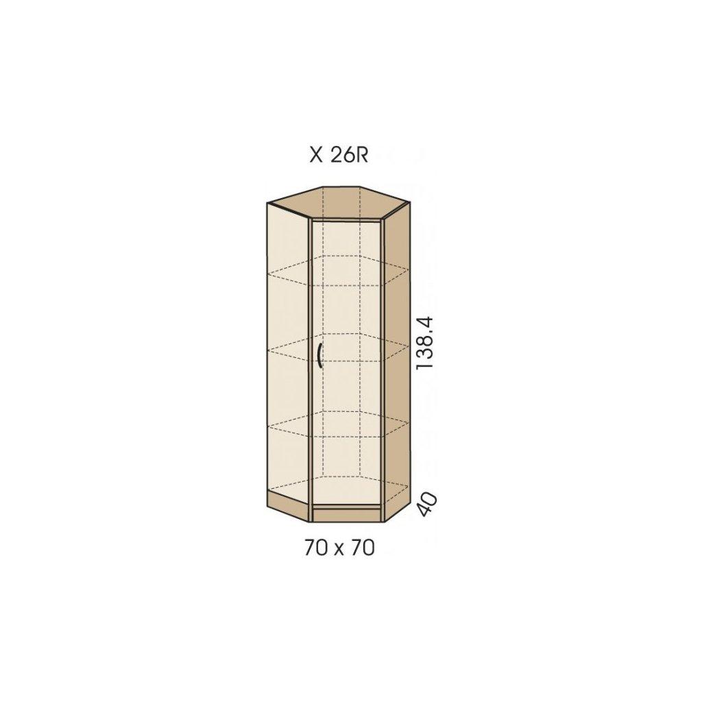 Skříň rohová, X 26 R